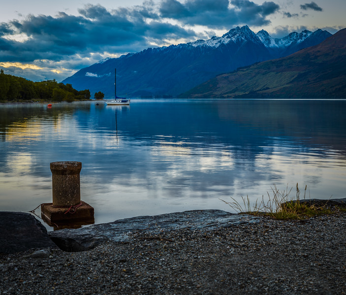 At the head of Lake Wakatipu