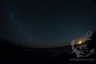 Moonset, Observation Rock