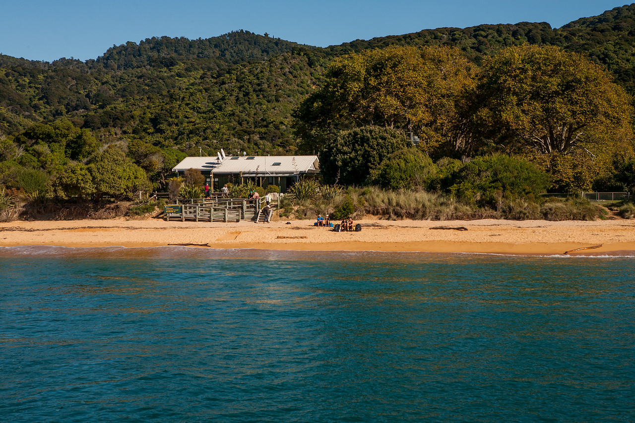 Campsite at a bay in Abel Tasman National Park, New Zealand