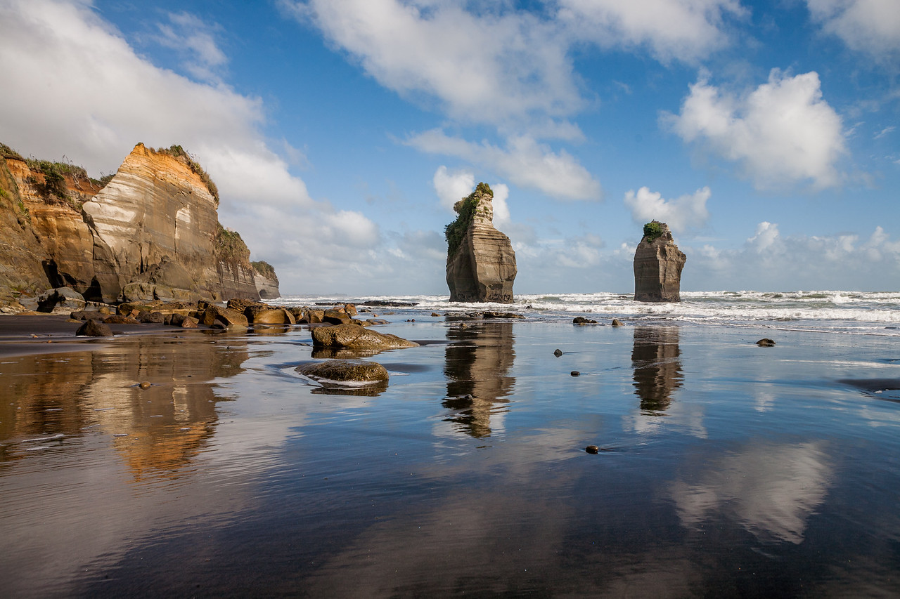 Three Sisters rocks, Taranaki, New Zealand