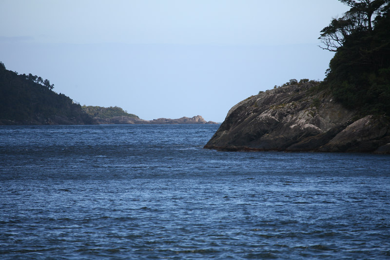 Milford Sound to the Tasman Sea. South Island.  New Zealand.