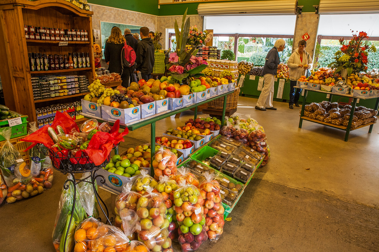 Fruits shopping at Cromwell, New Zealand