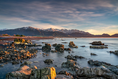 The Kaikoura Ranges On  A Winters Morning