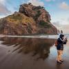 Sandeepa on Piha beach, Auckland, New Zealand