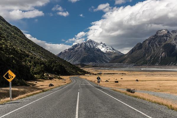 Road to Lake Tasman