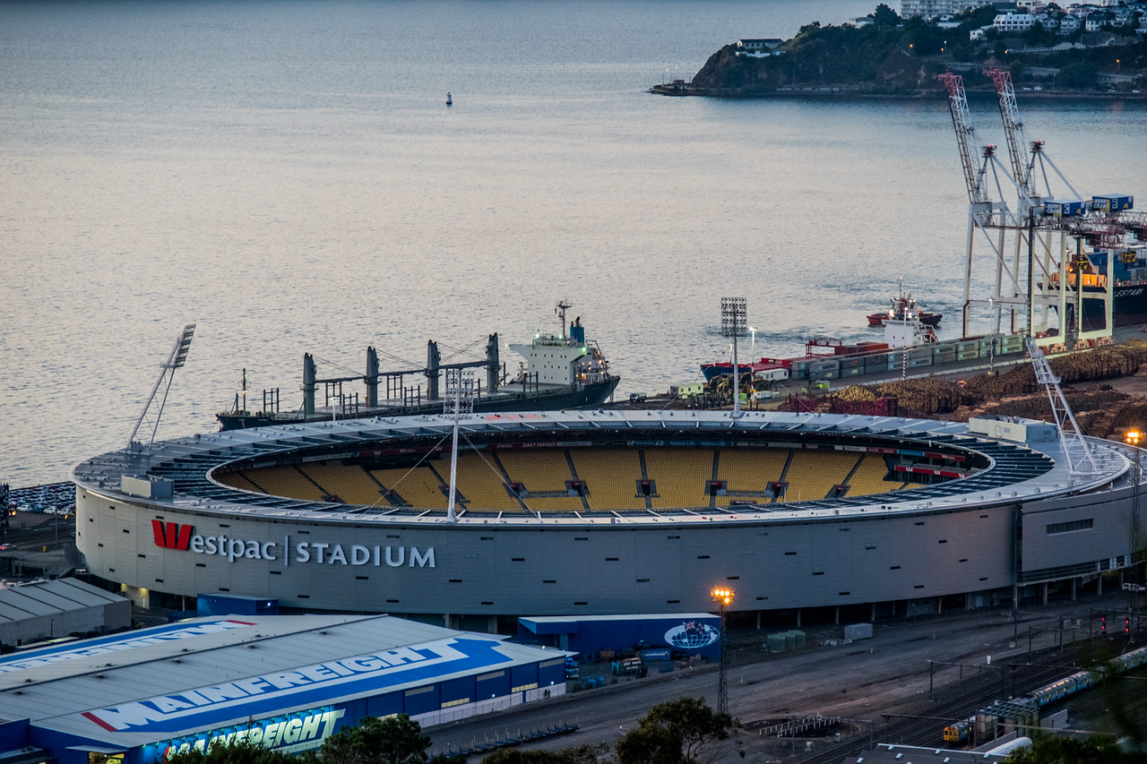 Westpac Stadium, All Blacks home venue; New Zeland