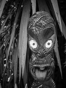 Haka Face Sculpture-Maori