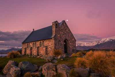 Church of the Good Shepherd and the Southern Alps