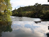 View of Waikato River from the infinity pool at the Owner's Cottage. Huka Lodge,Taupo, North Island, New Zealand.