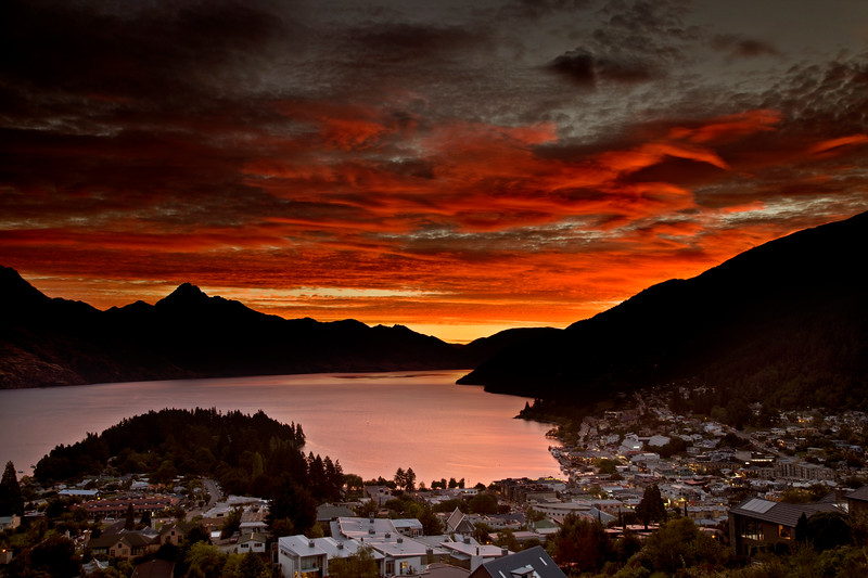 Queenstown New Zealand Sunset