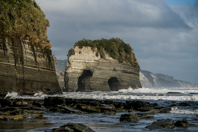 Taranaki's iconic Elephant Rock, New Zealand