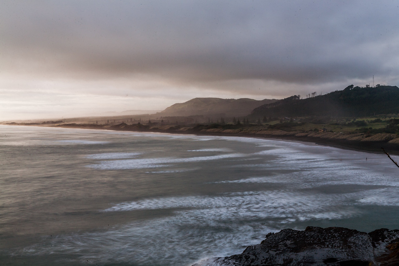 Muriwai beach near Auckland, New Zealand