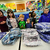 KRISTOPHER RADDER — BRATTLEBORO REFORMER<br /> Students at Jamaica Village School received new L.L. Bean backpacks through a grant from the Stratton Foundation on Monday, Jan. 6, 2020.