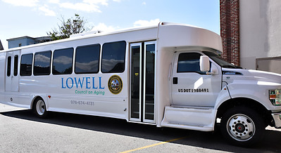 View of the new bus at the Lowell Senior Center. SUN/David H.Brow