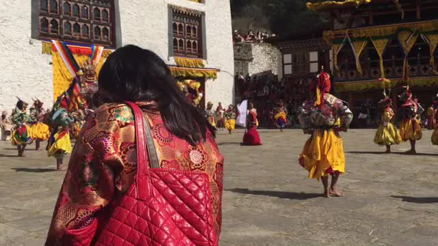 2017 Bhutan, Paro Tsechu, Buddhism Festival.