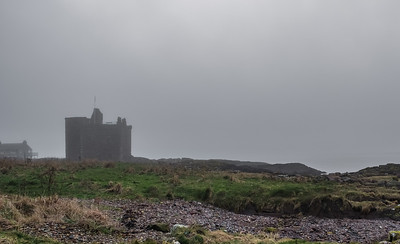 Portencross Castle Covered in Mist