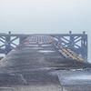 Old Jetty Portencross Shrouded in Freezing mist.