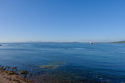 From Wemyss bay to Arran in the Hazy distance