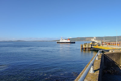 Car Ferry Leaving Wemyss Bay Scotland.