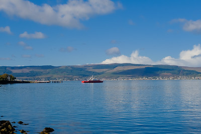Car Ferry on the River Clyde at McInroy's Point Gourock