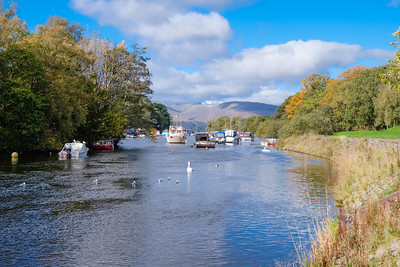 Balloch Marina in Scotland.