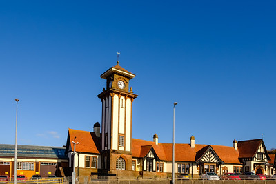 The Famous Clock Tower of Wemyss bay Railway Station & Pier Inverclyde Scotland.