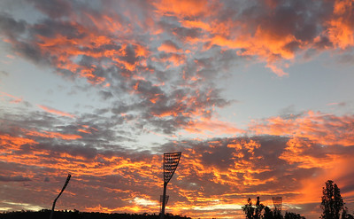 Sunset over Manuka Oval