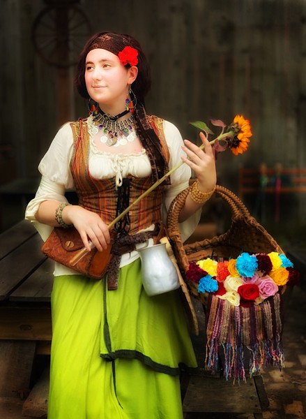 Renaissance Faire Flower Girl