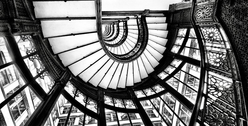 Staircase in The Rookery Building - Chicago