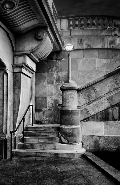 Historic Stairs down to River Walk - Chicago
