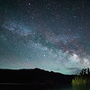 The night sky at Hyalite Reservoir, Montana - it was a little cloudy, but I managed to get part of the core of the Milky Way on a new moon night