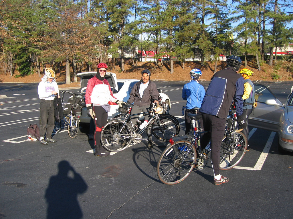 12-28-04.  Start of ride was 30 degrees and we had 11 riders with 15 at lunch