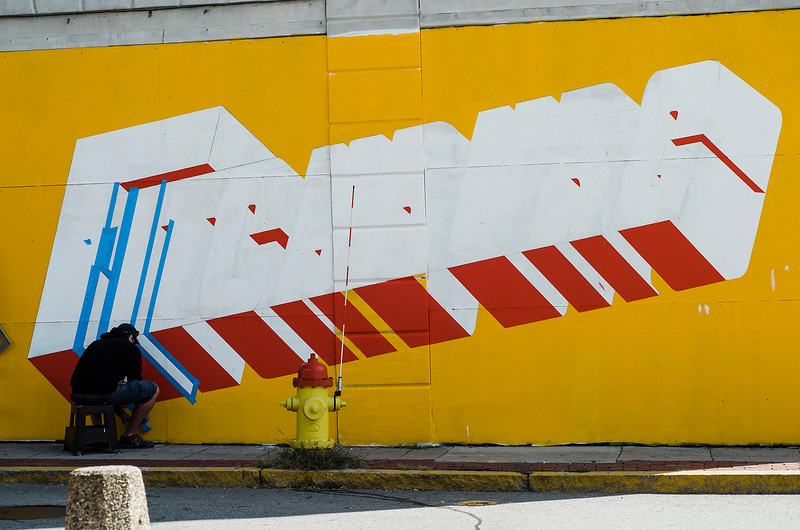 Local artist Jon Allen, in connection with New Vue Communities and Fitchburg Pride, has created a new mural on the corner of Main Street and Prichard Street in Fitchburg. SENTINEL & ENTERPRISE / Ashley Green