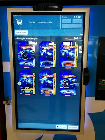 Our vending machine has Hot Wheels.