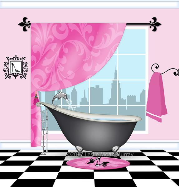 Cute Bathroom With Vintage Claw-foot Tub