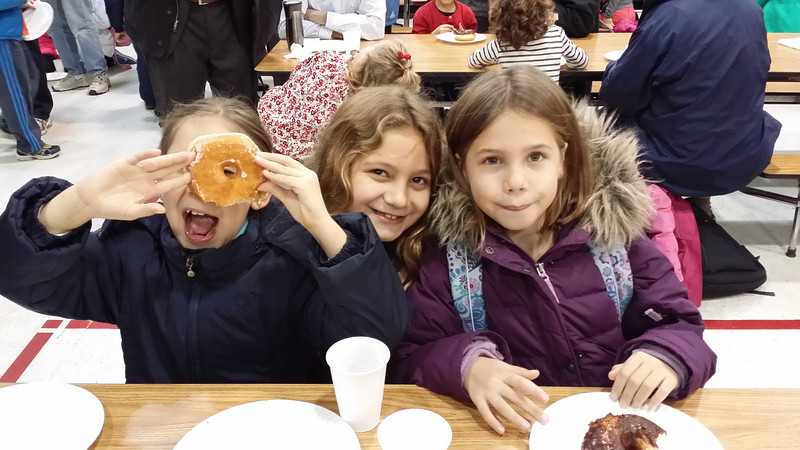 Donuts for Das at Lydia's school.
