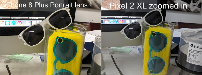 iPhone portrait lens, vs. Pixel digital zoom