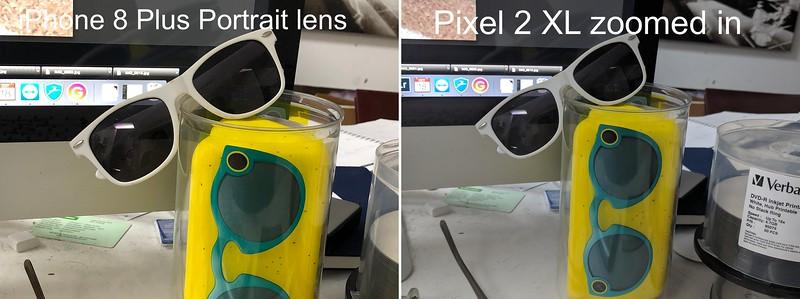 iPhone portrait lens, vs. Pixel digital zoom