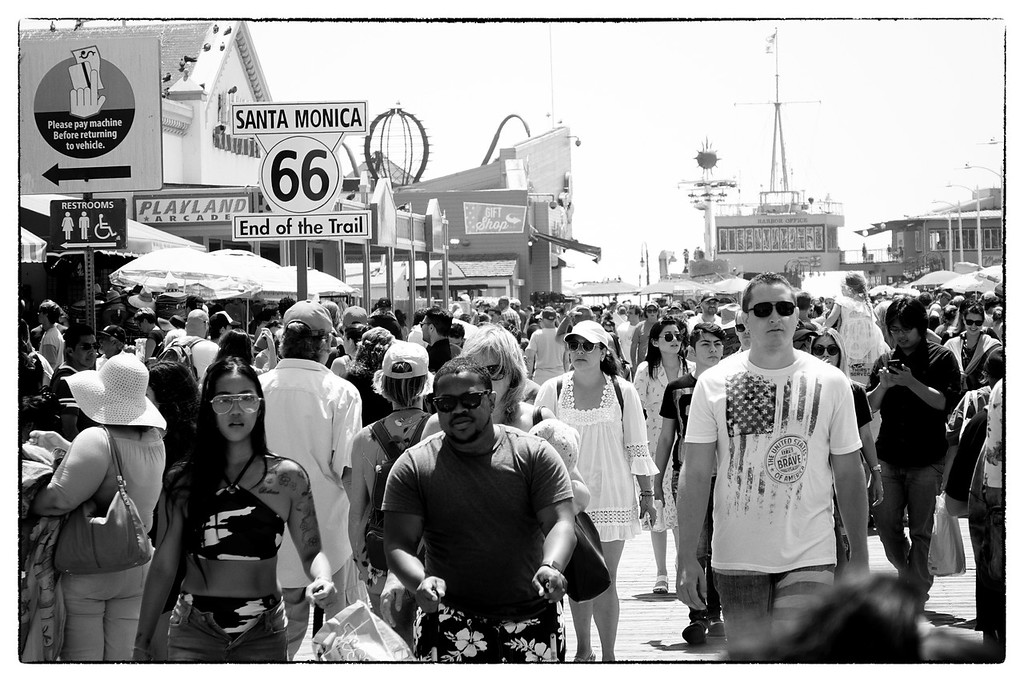 Walking the Santa Monica Pier