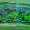 oil on gessoed board 244 x 40cm (unfinished)