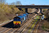 5th Apr 2018:  4O21 is the Garston FLT to Southampton Maritine service.  Today 66415 is rostered and it pictured as it  passes over Didcot North Junction