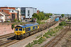10th May 2017:  With a load of empty Warwelsl and containers 66740 'Sarah' is working 6O44 from Bicester MOD to Marchwood MOD through Eastleigh