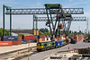 10th May 2017:  66594 under the unloading cranes in Southampton Maritime container depot