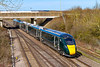 5th Apr 2018:  1P33  the 13.55 from Worcester Foregate Street to Paddington in the hands of 800033 running over Didcot North Junction