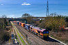 5th Apr 2018:Running on time 4M71 from Southampton Western Docks Berth 109 to Birch Coppice Exchange Siding powered by 66186 id seen at Didcot North Junction
