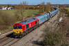 5th Apr 2018:  A very clean 66130 nears Didcot North Junction as it hauls 4O39 from Morris Cowley MAT to Southampton Eastern Docks