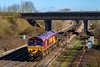 5th Apr 2018:  Pictured at Didcot North Junction is 66040 as it works 4O53 from Wakefield Europort to Southampton Eastern Docks