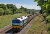 11th Jun 2018:  59004 is climbing eastward on the Frome avoiding line as it works the empty wagons to Westbury wirh 7C28 from Exeter Riverside.  Picure taken from the Styles Hill footbridge.