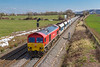 21st Mar 2018:  Passing snowey remnants as it nears Fairwood Junction is 59202 working 6C31 from Theale to  Whatley Quarry