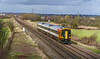 14th Mar 2018:  159105 runs towards Hawkridge Junction with 1O48 the 12.49 Bristol Temple Meads to Waterlo